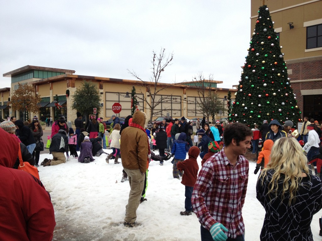 Snow at Hill Country Galleria