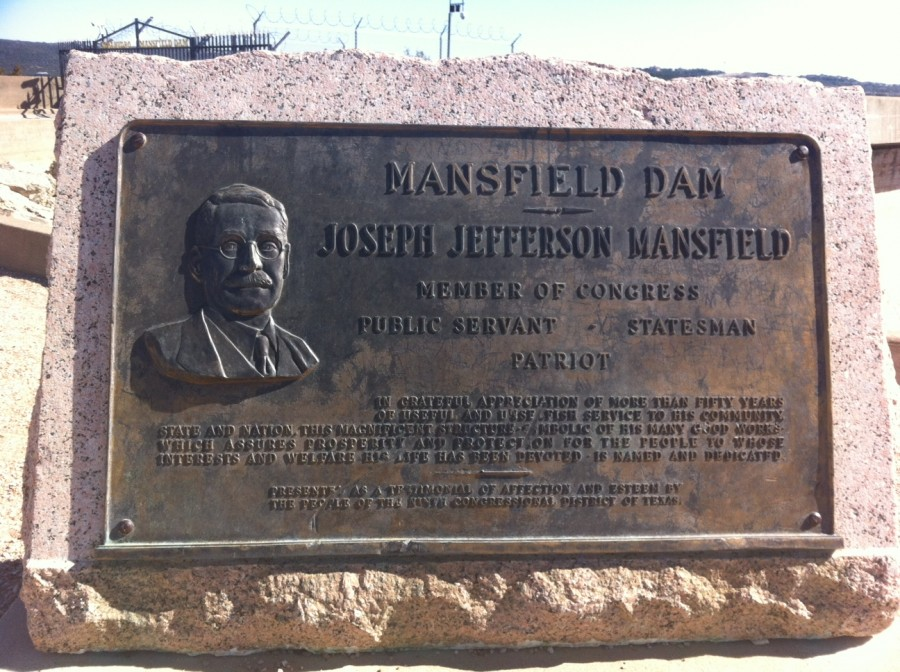 Memorial plaque for J.J. Mansfield