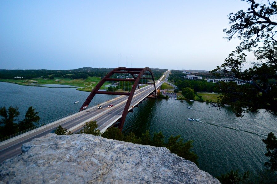 Pennybacker Bridge at the 360 Overlook 1
